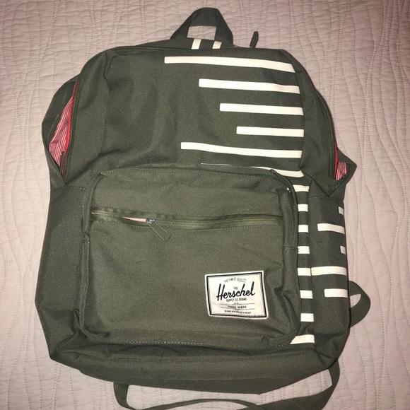 cd069a7859df Herschel Supply Company Handbags - Herschel Supply Co Brand Olive Green  Backpack